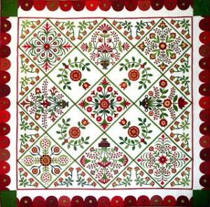 Sue Garman's Bed of Roses  Quilt